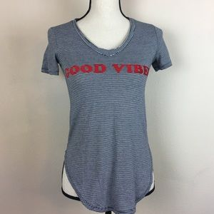 Tops - Good Vibes Stripe Shirt